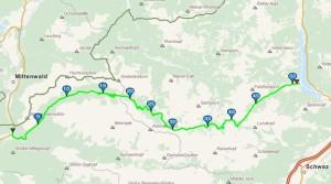 Strecke Karwendelmarsch